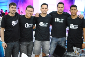 Sertão Games Team (from left to right): Erick, Jader, Wan, Diogo and Alan.