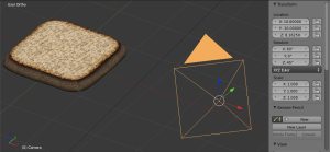 Camera object properties: position and angles.