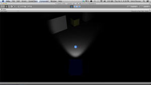 Player, enemies and walls are basic cubes. The player can shoot the enemies (and some enemies do it as well).